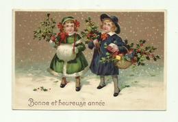 "-*1 X BONNE Et HEUREUSE ANNEE .....     * -"""" RELIËFKAART """"- - Cartes Postales"