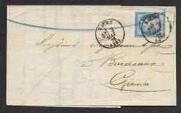 Marne-Lettre-Cachet Type 16 De Reims Sur N°60C - Postmark Collection (Covers)