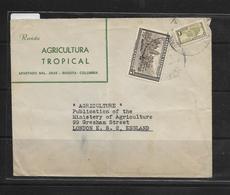 O) 1948 COLOMBIA, METROPOLITAN CATHEDRAL PLAZA BOLIVAR SC 557-WATERLOW AND SONS, SOBRETASA PARA CONSTRUCCION- COMMUNICAT - Colombia