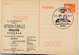 DDR P86II-8-87 C9 Postkarte Privater Zudruck ESPERANTO-BUCH Leipzig  Sost. 1988 - Esperanto