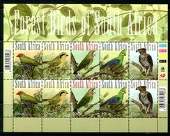 South Africa 2011 Forest Birds Of South Africa Sheetlet MNH (SG 1898-1902) - South Africa (1961-...)