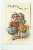 "-*1 X BIRTHDAY  GREETING     * -"""" RELIËFKAART """"- - Cartes Postales"
