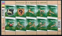 South Africa 2011 Evolution Of The Springbok Emblem Sheetlet MNH (SG 1904-1913) - South Africa (1961-...)
