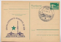 DDR P84-46-84 C93 Postkarte Zudruck ESPERANTO-ZENTRUM DRESDEN Sost. 1984 - Esperanto