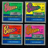 Grattage FDJ - Série Complète BANCO 51 - La Toute Première émission 1990 - Billets De Loterie