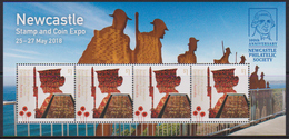 AUSTRALIA , 2018, MNH,NEWCASTLE STAMP AND COIN EXPO, WWI, SOLDIERS, MEMORIALS,  SHEETLET - WW1