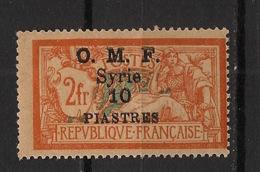 Syrie - 1920-22 - N°Yv. 66 - Merson OMF 10pi Sur 2f Orange - Neuf Luxe ** / MNH / Postfrisch - Nuevos