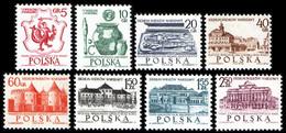 Poland 1965 Fi 1448-1455 + BLOK 35 Mi 1597-1604 + BLOK 37 700 Years Warsaw - Nuevos