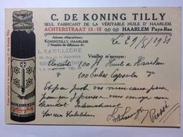 FRANCE 1931 Postcard - To Haarlem - C.de Koning Tilly - Harlemensis Illustration - France