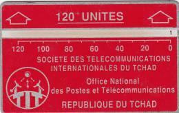 CHAD(L&G) - Telecom Logo Red 120 Units, CN : 244C, Tirage 16000, Used - Tsjaad