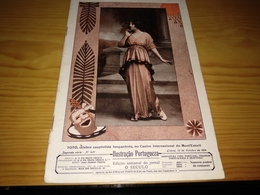 Revista Portuguesa, Magazine Portuguese- Ilustração Portuguesa,TOTO, Celebre Coupletista Hespanhola, No Casino  - 1914 - Revues & Journaux