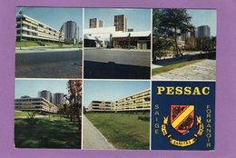 33 Pessac Résidence Formanoir Et Centre Commercial Rue De L'Horloge Réalisés Par Le C.I.L.G. Blason Flamme Au Dos - Pessac