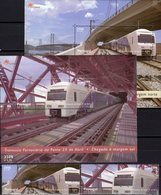 Zugbrücke 1999 Portugal 2360/1+Bl.154/5 ** 19€ Eisenbahn-Züge/Tejo-Brücke Bridge Hoja Train Blocs Sheets Bf Railway - Blocks & Sheetlets