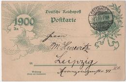 """ALLEMAGNE. OSTERHOLZ Sur ENTIER. CARTE """" 1900 """". 30.12.1899. POUR LEIPZIG. - Allemagne"""