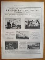 1926  -  Transbordeurs ( Bassens,Hautmont, Maxeville, Vireux,& Béziers)   - Page Originale ARCHITECTURE INDUSTRIELLE - - Machines