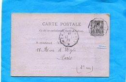 """Entier Postal- Stationnery-carte10c Sage-cad 1911-""""curiosité""""-carte Recouverte D'une Photo New York A Voyagé En Françe - Postales Tipos Y (antes De 1995)"""