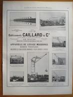 1926 - Appareils De Levage Grue Portique - Ets CAILLARD  Au Havre  - Page Originale ARCHITECTURE INDUSTRIELLE - - Machines