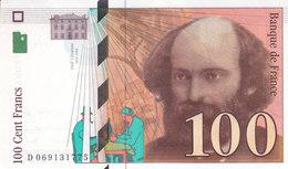 Billet 100 F Cézanne 1998 FAY 74.2 N° D 069131775 SPL Sans épinglage - 1992-2000 Last Series