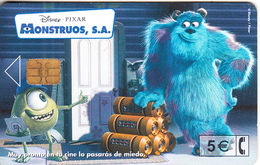 SPAIN - Disney/Monsters SA, 12/01, Used - Disney