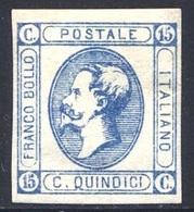 1863 15 CENT. LITOGRAFICO N.13 NUOVO * SPLENDIDO - MLH EXTRAFINE - 1861-78 Victor Emmanuel II.