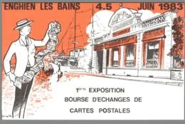 CPM 95 - Enghien Les Bains - 1ère Exposition Bourse D'Echange De Cartes Postales - 1983 - Enghien Les Bains