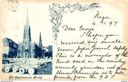 1897   RIGA  DIE ANGLIKANISCHE KIRCHE   Russa Rusia Rusland RUSSE RUSSIE - Rusia
