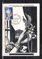 """"""" JOAILLERIE ET ORFEVRERIE """" Sur Carte Maximum De 1954. N° YT 973. Parfait état. CM - Cartoline Maximum"""