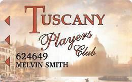 Tuscany Casino Las Vegas Slot Card - P680747-1 On Reverse - Casino Cards