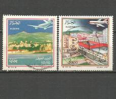 ARGELIA CORREO AEREO YVERT NUM. 22/23 SERIE COMPLETA USADA - Argelia (1962-...)