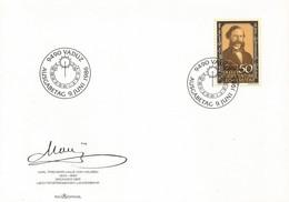 LIECHTENSTEIN FDC 1986 Karl Freiherr Haus Von Hausen (1823-89) - FDC
