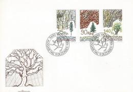 LIECHTENSTEIN FDC 1986 TREES - FDC