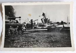 9 Photos Originales 27 Novembre 1942 WWII Sabordage Flotte Française Toulon Tank Allemand Navire Guerre 39-45 - Guerre 1939-45