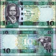 South Sudan SD SUDN 10  Pounds UNC BANKNOTE. - Soudan Du Sud