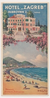 1930s ART DECO - Raguza Dubrovnik Lapad  Hotel Zagreb Brochures Prospect HRVATSKA CROATIA , Vintage Old Hotel Prospect - Tourism Brochures