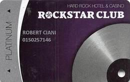 Hard Rock Casino - Las Vegas, NV - Slot Card - Casino Cards