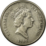Monnaie, Nouvelle-Zélande, Elizabeth II, 5 Cents, 1989, TTB, Copper-nickel - New Zealand
