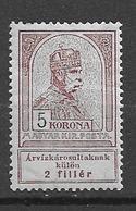 1913  MH Hungary - Nuevos