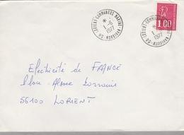 LSC 1977 - Cachet LORIENT - COMMANDOS MARINE (Morbihan) - Postmark Collection (Covers)