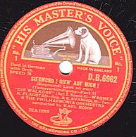 """78 Trs - 30 Cm - Etat TB - 2 Disques - THE PHILHARMONIA ORCHESTRA  """"DIE WALKORE""""  Voir étiquettes - 78 T - Disques Pour Gramophone"""