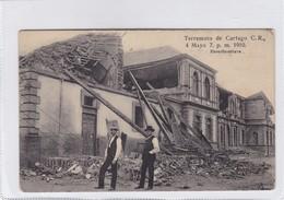 COSTA RICA. TERREMOTO DE CARTAGO AÑO 1910. ESCUELA MIXTA. H.N. RUDD. VOYAGEE-RARISIME- BLEUP - Rampen