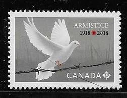 CANADA 2018,  100 Th Anniversary Of Armistice, Single From Sheet From Quaterly Pack - Blocs-feuillets