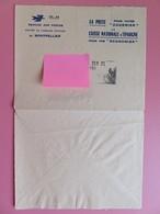 France - Enveloppe Service Des Postes - Centre De Chèque Postaux - Publicité CNE - Tampon Marqueur 1966 - St Affrique - Marcophilie (Lettres)