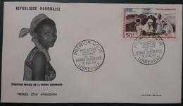 GABON 1964 EVOLUTION SOCIALE DE LA FEMME GABONAISE FDC ENVELOPPE PREMIER JOUR - Gabon