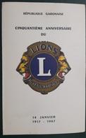 GABON 1967 Encart Folder LIONS CLUB - LIMITED EDITION - Rotary, Lions Club