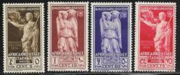 Italian East Africa, Scott # 21-2,24-5 Mint Hinged Caesar, Abundantia, 1938 - Italian Eastern Africa