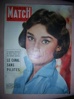 Paris Match N°389 Devigny Montluc BOMBARD Gouffr Berger Bourvil Fangio - Informations Générales