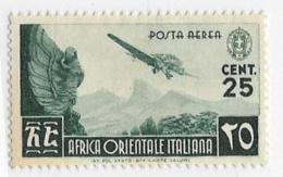 Italian East Africa, Scott # C1 Unused No Gum, C3-4 Mint Hinged Planes Over Various Subjects, 1938 - Italian Eastern Africa