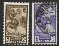 Italian East Africa Scott # C12 Mint Hinged, C13 Used Eagle Attacking Serpent, 1938 - Italian Eastern Africa