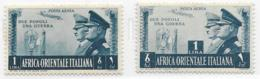 Italian East Africa Scott # C18-9 MNH Rome- Berlin Axis, 1941, CV$155.00 - Italian Eastern Africa