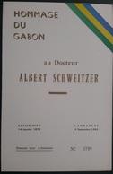 GABON 1967 Encart Folder ALBERT SCHWEITZER - SANS TIMBRES WITHOUT STAMPS - LIMITED EDITION - Gabon